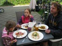 Restaurace v Poděbradech u zámku.
