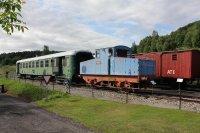 vagon Bai a francouzská lokomotiva z curkovaru Kolín